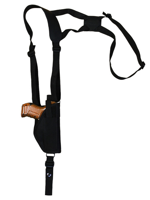 vertical shoulder holster for compact sub-compact 9mm 40 45 pistols