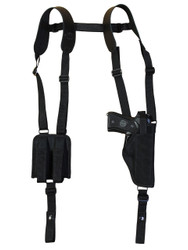 Vertical Shoulder Holster with Magazine Pouch for Full Size 9mm 40 45 Pistols