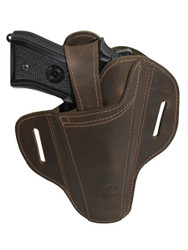 leather ambidextrous pancake holster
