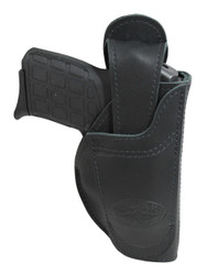 leather ambidextrous holster with interchangeable belt clip or loop options