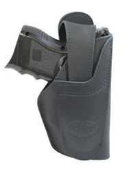 Black Leather 360Carry 12 Option OWB IWB Cross Draw Holster for Compact 9mm 40 45 Pistol