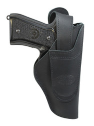 Black Leather 360Carry 12 Option OWB IWB Cross Draw Holster for Full Size 9mm 40 45 Pistols