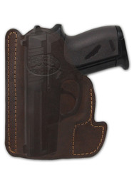 Brown Leather Ambidextrous Pocket Holster for Mini/Pocket .22 .25 .380 .32 Pistols