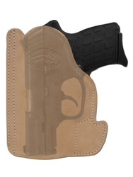 Natural Tan Leather Ambidextrous Pocket Holster for Mini/Pocket .22 .25 .380 .32 Pistols