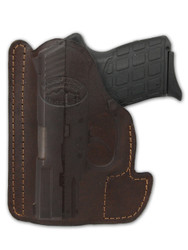 Brown Leather Ambidextrous Pocket Holster for Compact 9mm 40 45 Pistols