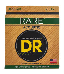 DR Strings Rare Phosphor Bronze Acoustic Guitar Strings - .011 - .050