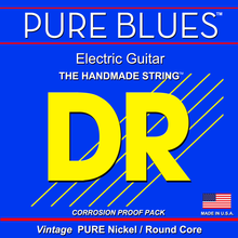 DR Strings Pure Blues Nickel Electric Guitar Strings - .011 - .050