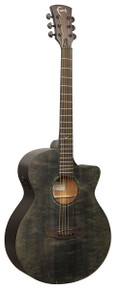 Faith FKVBK Naked Venus Cutaway Electro-Acoustic Guitar - Black