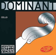 Dominant 4/4 Cello C String - Chrome