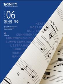 Trinity College London Singing 2018-2021 Book & CD - Grade 6 (High Voice)