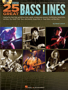 25 Great Bass Lines - Glen Letsch (Book &CD)