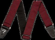 Fender Houndstooth Jacquard Strap - Red