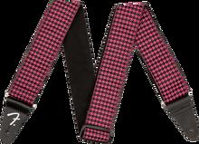 Fender Houndstooth Jacquard Strap - Pink