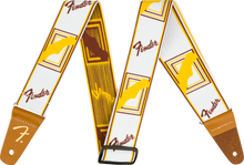 Fender Weighless Monogram Strap - White/Brown/Yellow