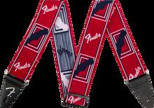 Fender Weighless Monogram Strap - Red/White/Blue