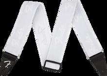 Fender Weighless Running Logo Strap - White/White