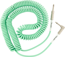 Fender 30' Original Series Coiled Cable - Sea Foam Green