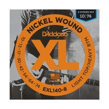 D'Addario EXL140-8 8-String Light Top/Heavy Bottom .010 - .074 Nickel Wound Electric Guitar Strings