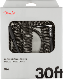 Fender Professional Series Coil Cable - Grey Tweed 30ft