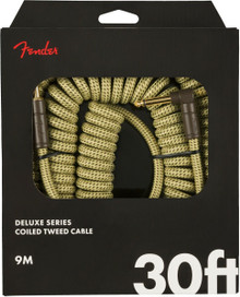 Fender 30' Deluxe Series Coil Cable - Gold Tweed