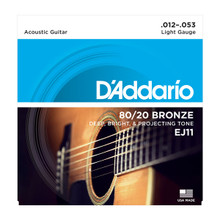 D'Addario EJ11 Light .012 - .053 80/20 Bronze Acoustic Guitar Strings