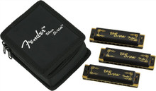 Fender Blues Deville Harmonica 3-Pack With Case - C, G & A