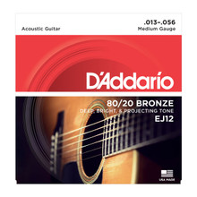 D'Addario EJ12 Medium .013 - .056 80/20 Bronze Acoustic Guitar Strings