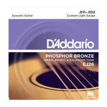 D'Addario EJ26 Custom Light .011 - .052 Phosphor Bronze Acoustic Guitar Strings