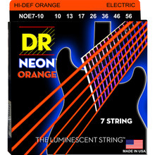 DR Strings NOE7-10 Coated Nickel Medium Hi-Def Orange 7 String 10-56