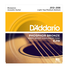 D'Addario EJ19 Light Top/Medium Bottom .012 - .056 Phosphor Bronze Acoustic Guitar Strings