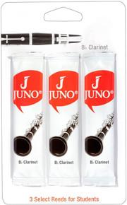 Juno by Vandoren Bb Clarinet Reeds - 1.5 Triple Pack