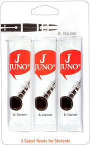 Juno by Vandoren Bb Clarinet Reeds - 1.5 Triple Pack