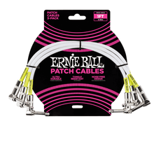 Ernie Ball Cable - 1ft Patch White 3-Pack
