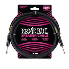 Ernie Ball Cable - 6' Straight - Straight Speaker Black