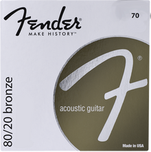 Fender 70L Light .012 - .052 80/20 Bronze Acoustic Guitar Strings