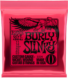 Ernie Ball Burly Slinky Electric Guitar Strings 11-52