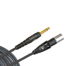 D'Addario Custom Series Microphone Cable, XLR Female to 1/4 Inch, 25 feet