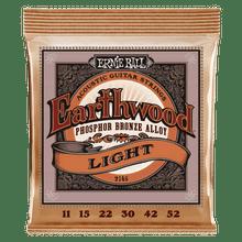 Ernie Ball Earthwood Light Phosphor Bronze Acoustic Guitar Strings - 11-52