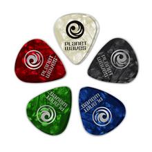 D'Addario Assorted Pearl Celluloid Guitar Picks, 10 pack, Light