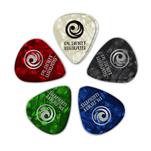 D'Addario Assorted Pearl Celluloid Guitar Picks, 10 pack, Heavy