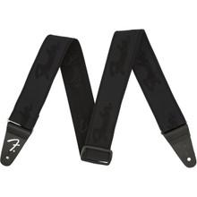 "Fender Weighless 2"" Running Logo Strao In Black/Black"