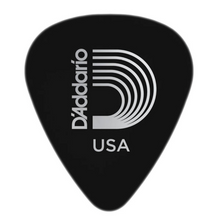 D'Addario Black Celluloid Guitar Picks, 10 pack, Heavy