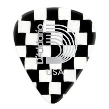 D'Addario Checkerboard Celluloid Guitar Picks 10 pack, Extra Heavy
