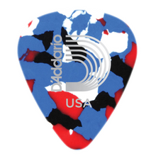 D'Addario Multi-Color Celluloid Guitar Picks, 10 pack, Medium