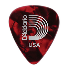 D'Addario Red Pearl Celluloid Guitar Picks, 10 pack, Heavy