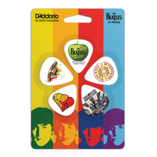 D'Addario Beatles Guitar Picks, Albums 10 pack, Thin