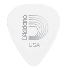 D'Addario White-Color Celluloid Guitar Picks, 10 pack, Medium