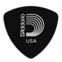 D'Addario Black Celluloid Guitar Picks, 10 pack, Medium, Wide Shape