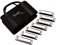 Fender Blues Deluxe Harmonicas 7-Pack - With Case