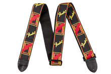 Fender Monogrammed Black/Yellow/Red Guitar Strap